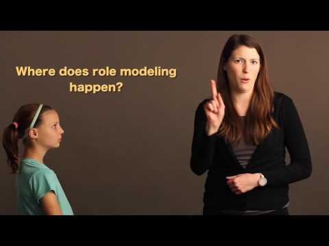 How do role models impact the lives of deaf individuals?