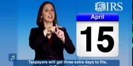 April 18 is when your taxes are due