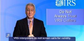 Tax Scams via Video Relay Service