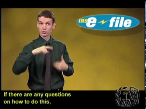Tax Tips: Ask Your Tax Preparer to e-File – February 2010 (ASL, Captions & Voice Over)