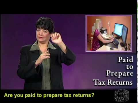 Tax Tips: Message for Tax Preparers – February 2010  (ASL, Captions & Voice Over)