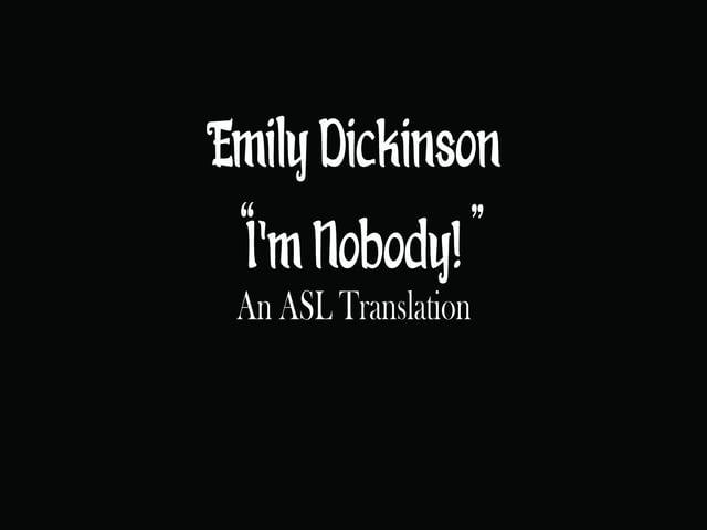 I'm Nobody!