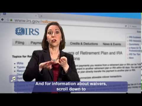 Retirement Plan and IRA Rollover